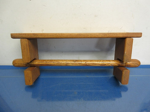 Solid oak papertowel holder - attaches to wall
