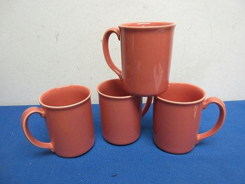 Set of 4 coral corning coffee mugs