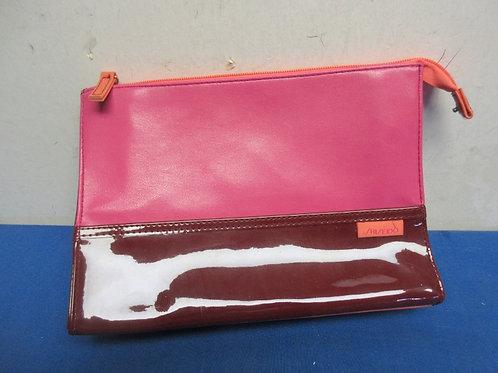 Shiseido -Magenta,burgundy & orange  cosmetic bag