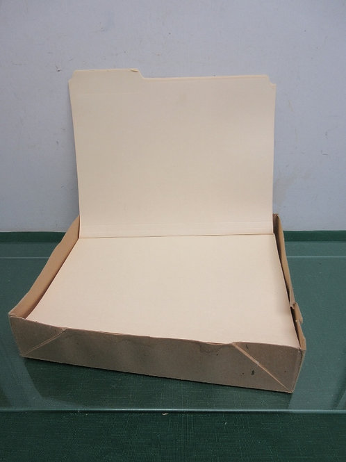 Box of file folders - over 75 foders