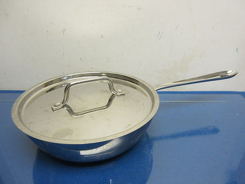 """All-Clad stainless steel 4qt saute pan with lid - 10"""""""