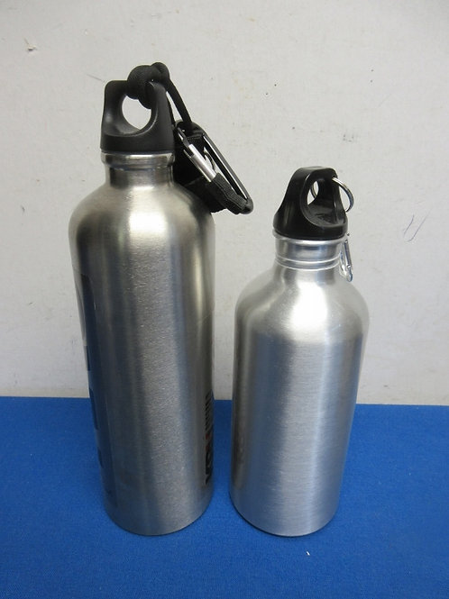 Pair of stainless water bottles