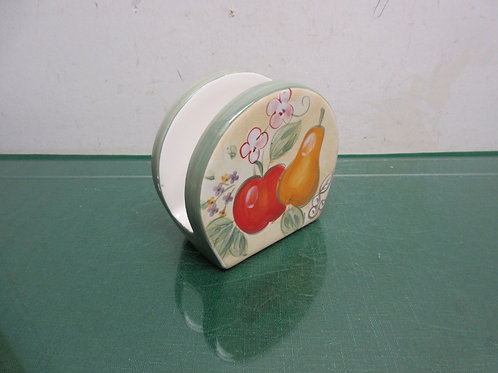 """Home"" fruit design ceramic napkin holder"