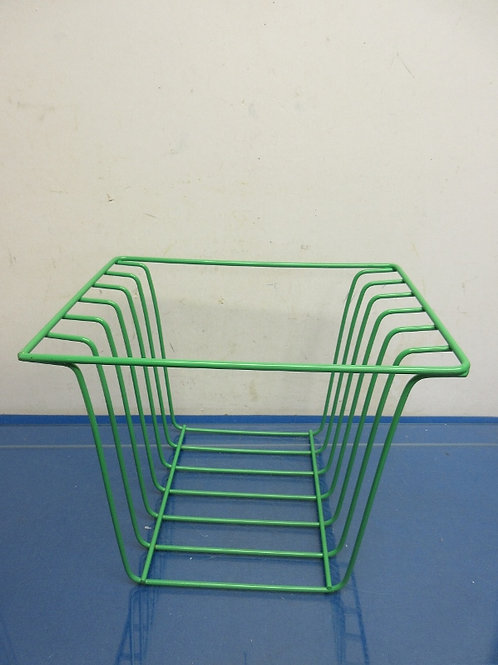 Metal green puzzle rack for framed children's puzzles, holds 6 puzzles