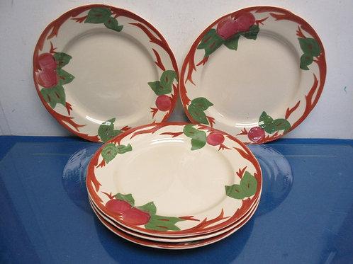 Set of 5 Franciscan Dinner plates, apple design