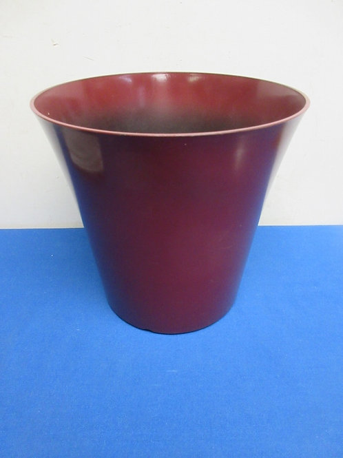 Red small plastic waste basket