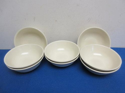 Set of 8 white pfaltzgraff small bowls
