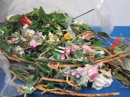 Large bag of artifical flowers on long stems