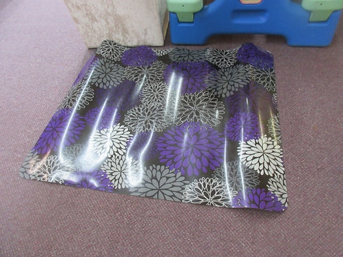 Black and purple pad for under desk chair - floral design - 36x28