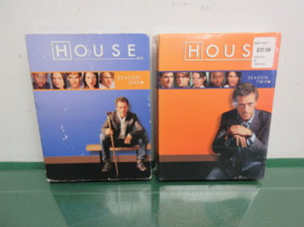 """House"" the medical tv drama, season one & two, dvds"