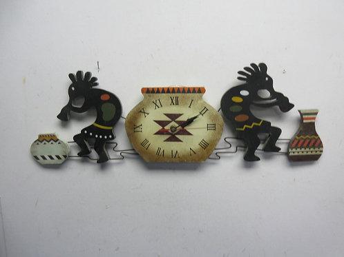 Kokopelli wall clock - southwest native american symbol said to bring joy and ab