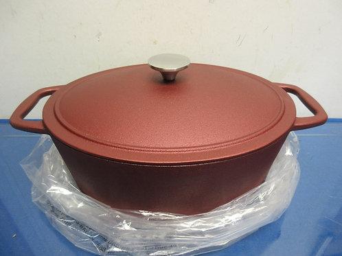 Cook's Essential cast iron nonstick 6qt dutch oven-red
