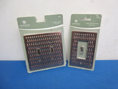 Pair of coppertone light switch covers, New in pkg