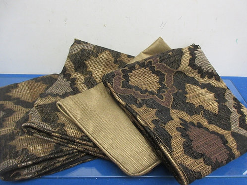 Set of 4 black and brown decorative pillow covers each has zipper, All New
