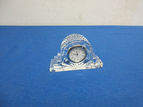 Waterford crystal desk top clock with new batteries, 2 available