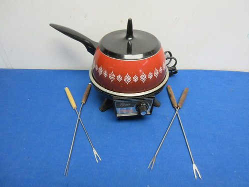 Oster electric fondue w/4 forks