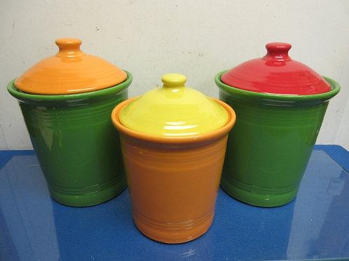 Fiesta 3 pc canister set (2) 3qt and (1) 2qt-multi colored