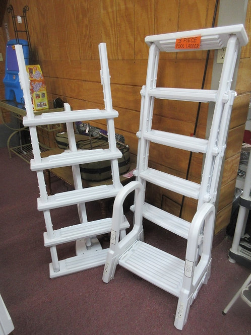 Brand new above ground white pool ladder (double sided A frame)
