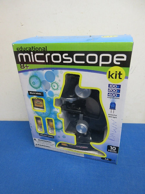 Educational microscope kit, ages 8 and up,New in box