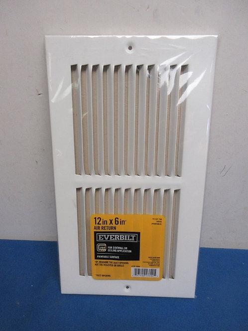 Everbilt air return 12x6 - white - new
