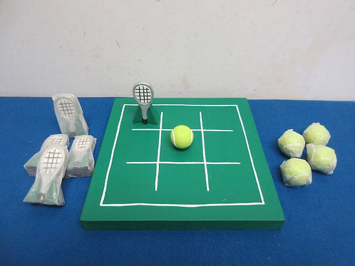 Tic Tac Toe board with tennis theme markers