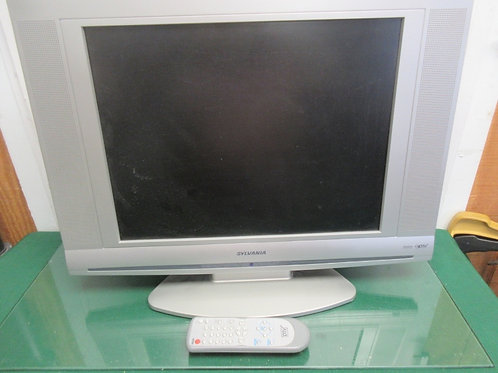 "Sylvania 20"" flat screen TV with remote"