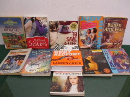 """set of 11 children's books - """"To Save a Life"""", """"Ruby Redfort"""", """"Coraline"""", """"Bed-"""