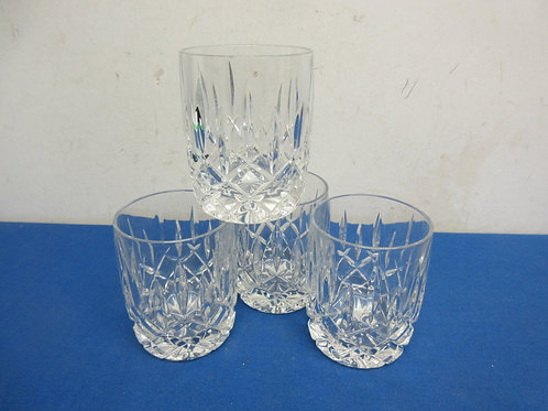 Set of 4 leaded crystal old fashion glasses