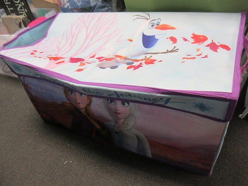 Disney Frozen large toy canvas toy chest with collapsible hanmper