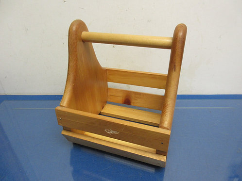 "handmade wood caddy 8x8x8"" high"