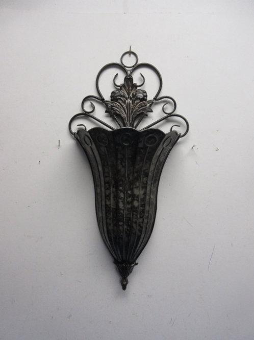 Metal wall sconce vase