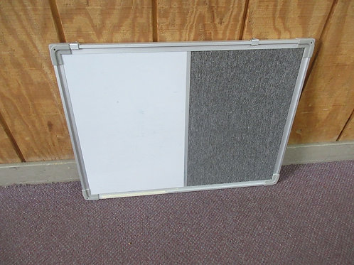 """Silver framed white board/pin up cloth covered corkboard, 18x24"""""""