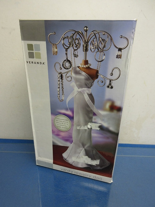 Veranda vanity jewelry doll, organizes necklaces, rings, bracelets & more