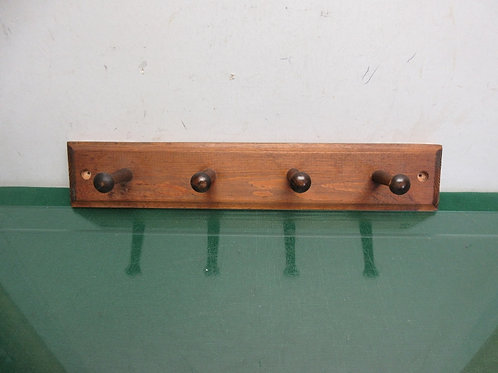 """Wooden coat rack with 4 pegs, 4x18""""long"""