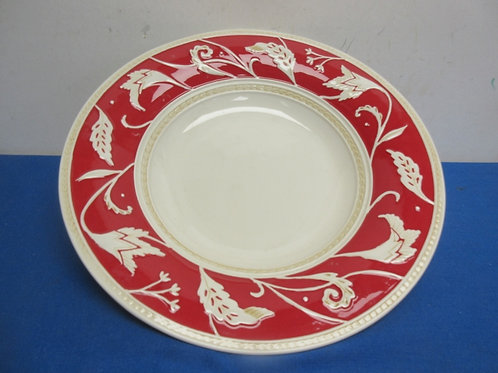 """Flitz and floyd red and white large serving plate, 14"""" dia"""