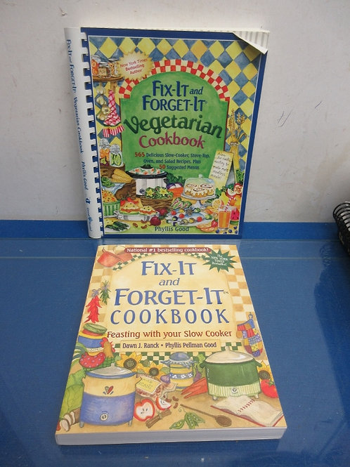 Pair of Fix-it and Forget it cookbooks