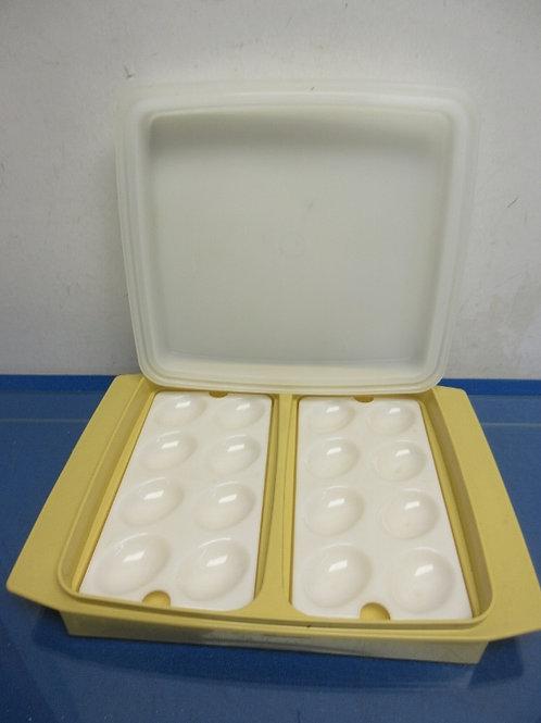 Tupperware vintage deviled egg carrier, holds 16 eggs, 2 available