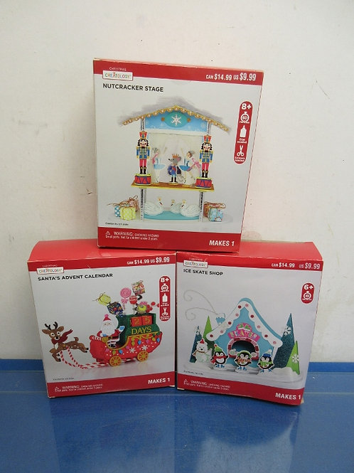 Creatology-3 kits-Nutcracker Stage, Ice Skate Shop & Santa's Advent Calendar