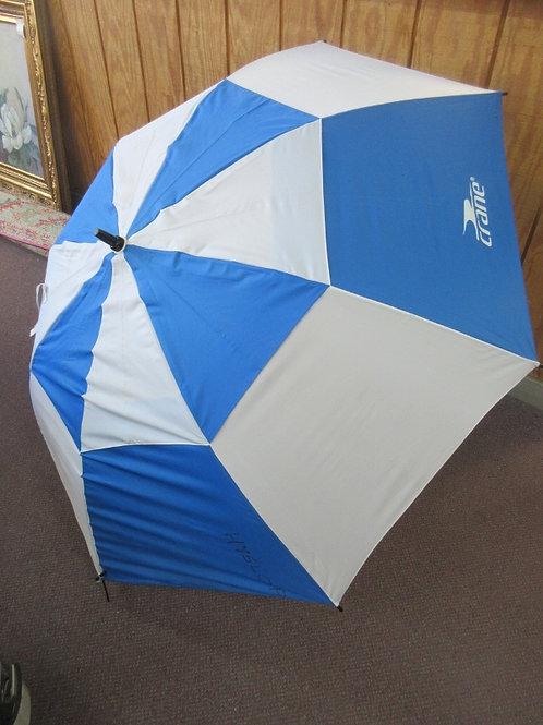 Blue and white large golf size umbrella