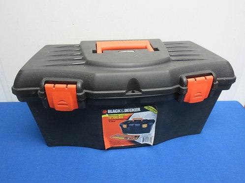 Black & decker tool box with tray