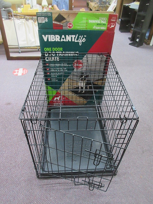"""Vibrant Life small one door dog training crate, 24x18x20""""high"""