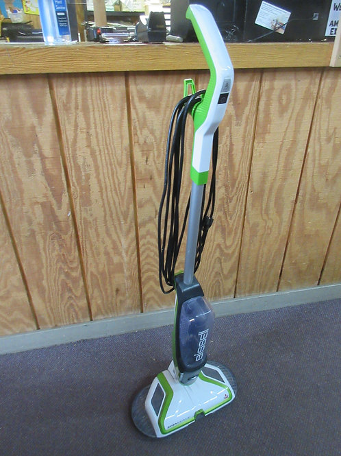 Bissel Spinway hardwood floor electric mop with sprayer, green and white