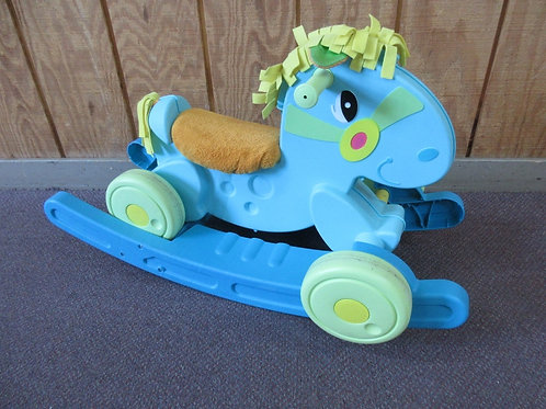 Fisher Price 2 in 1 rocking horse&ride on toy-blue