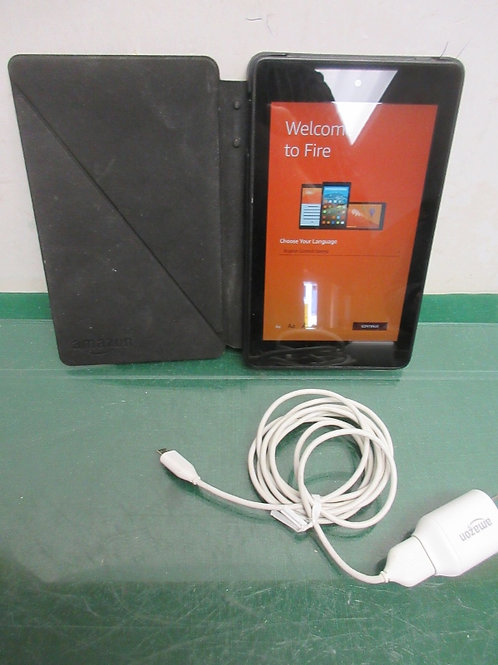 Amazon kindle fire hd6 - model pw98vm - 4th edition - 8gb - black with case & ch