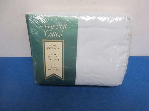 Cotton 4 pc cotton mint green sheet set, New