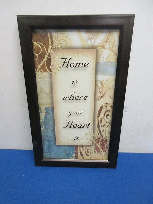"""""""Home is where your heart is"""", black frame, 9x15"""
