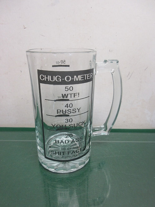 Large 50 oz beer mug with chug-o-meter on the side