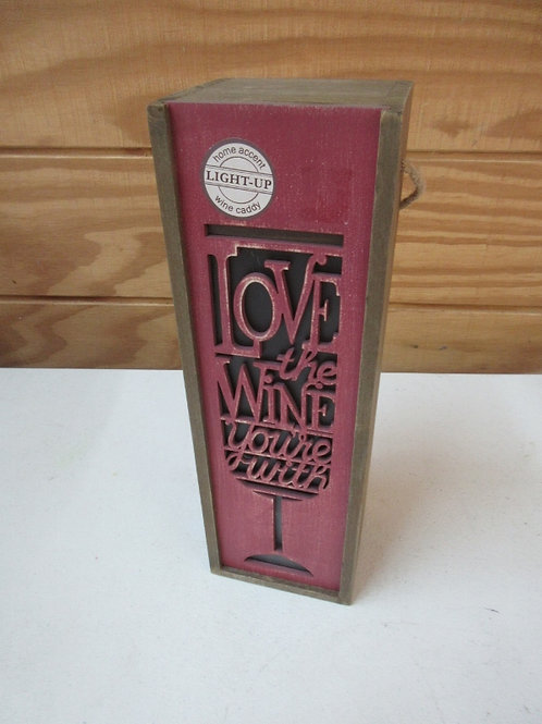 Wooden wine box with lights