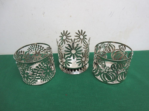 Set of 3 silver decorative sleeves