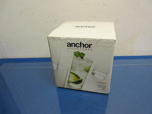 Anchor Hocking 4 hi ball glasses (18oz)